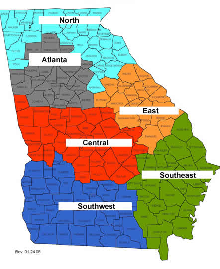 Georgia Map For Kids.Medicaid Medical Coordination Program For The Aged Blind Or