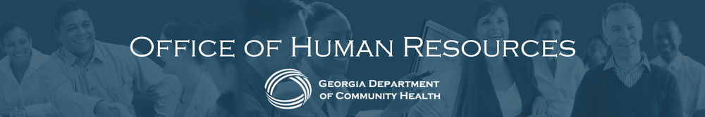 Georgia Department of Community Health Office of Human Resources banner image