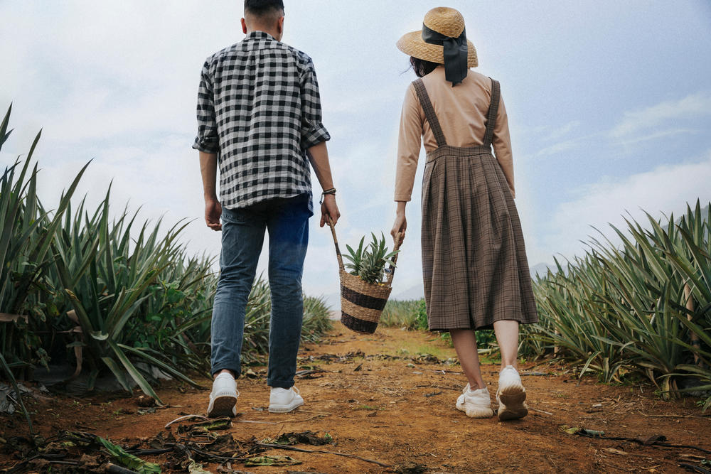 couple on rural road