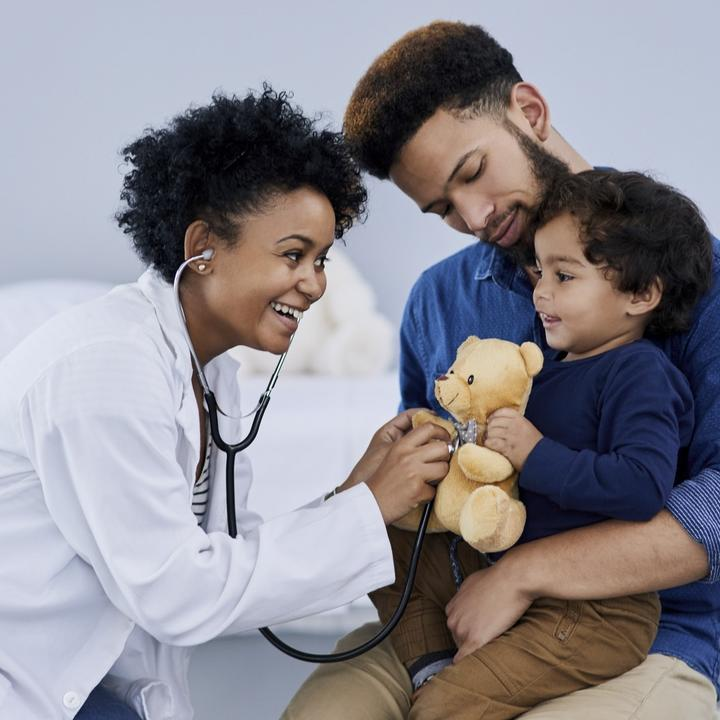 Doctor with young patient